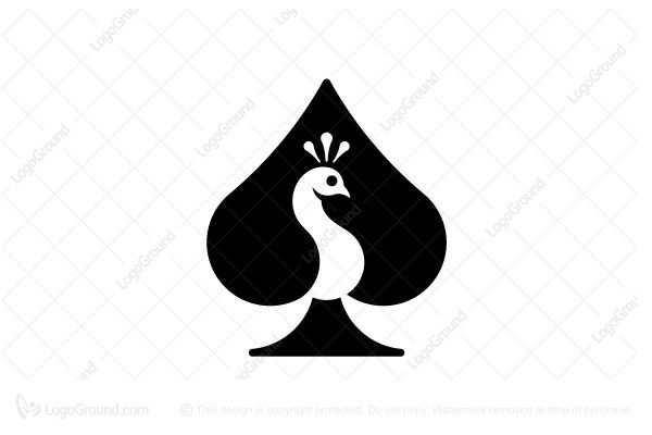 Unique Ace Of Spades Peacock Logo Peacock Logo Art Logo Ace Logo