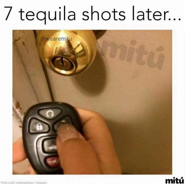 Hahahah I don't like tequila but this is funny!!!  1 tequila 2 tequila 3 tequila Floor!