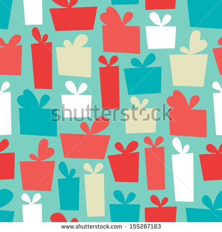 Seamless pattern with presents - stock vector