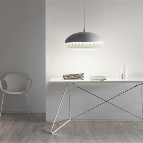 Lightyears - Aeon Rocket. moffice.dk. #design #belysning #kontor #pendel #indretning #lampe #grå