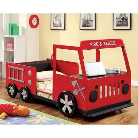 Rescue City Freddy Twin Fire Truck Bed - Red
