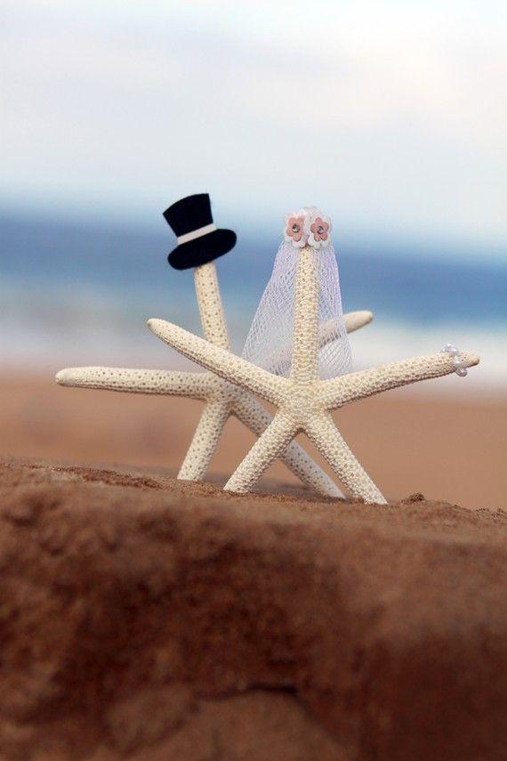 Beach Themed Wedding Card
