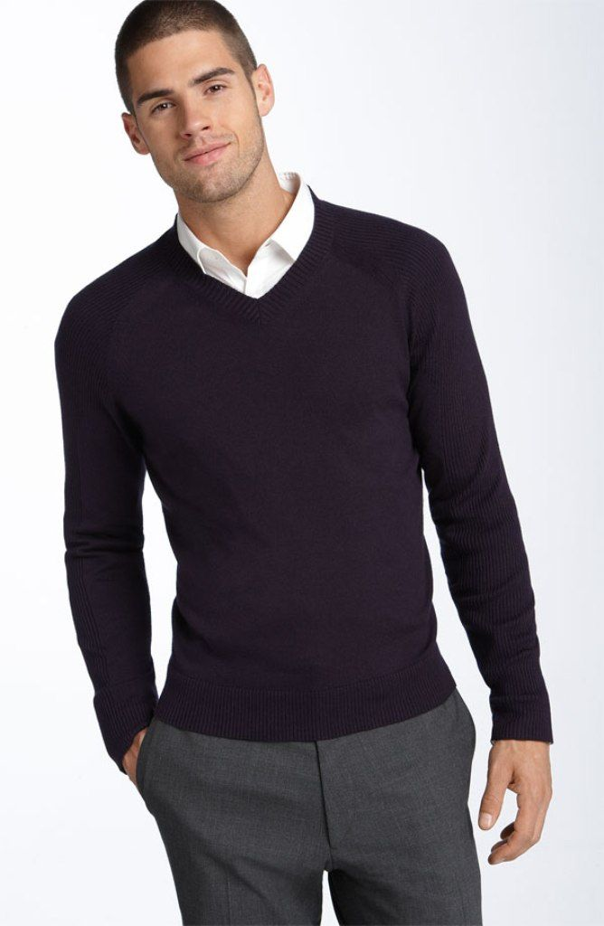 Men Fashion Men Fashion Style Pinterest Sweater Shirt Business Casual And Preppy Look