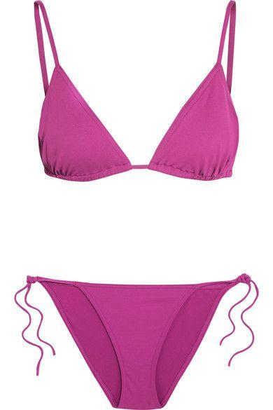 Eres - Les Essentiels Mouna Triangle Bikini Top - Magenta