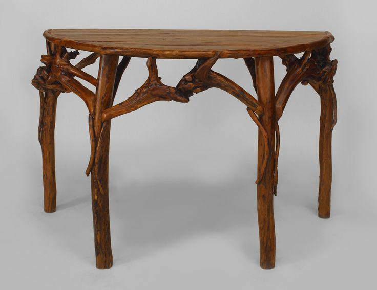 adirondack dining table and chairs outdoor tables room rustic console root