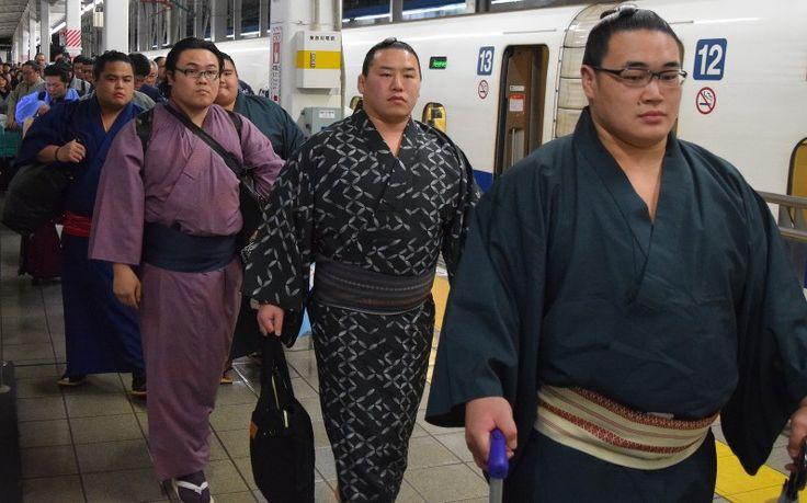 大相撲九州場所(11月12日初日、福岡国際センター)に出場する力士が29日、新幹線で博多入りした。30日には新番付が発表され、一年納めの場所が動き出す。  JR博多駅には、幕下以下の若手力士や広島県福山市での巡業を終えた関取衆らが次々と浴衣姿で到着。ホームにはびん付け油の香りが漂い、力士の周りには珍しそうに多くの人が集まり、力士に赤ちゃんを抱っこしてもらって記念撮影する人の姿もあった。 #相撲 #九州場所 #毎日新聞