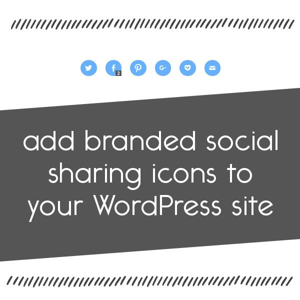 How to add branded social sharing icons to your WordPress site. // A step by step tutorial for adding social media buttons using the Jetpack plugin for WordPress.