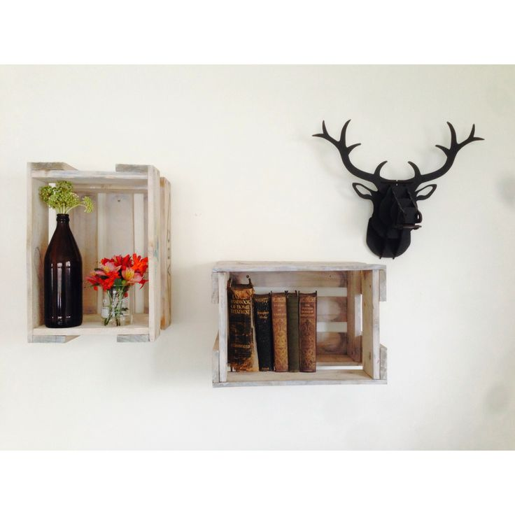ABC beer crate shelves for my wall