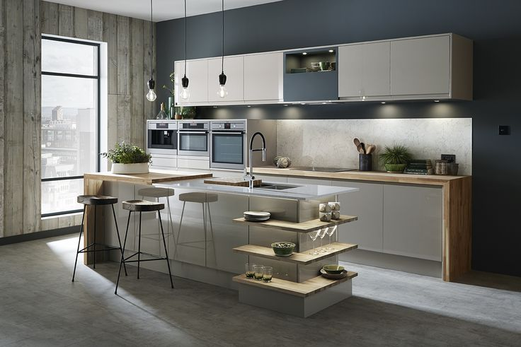 Stunning kitchen design from Howdens Our Bayswater Gloss Cashmere - nolte küchen planer