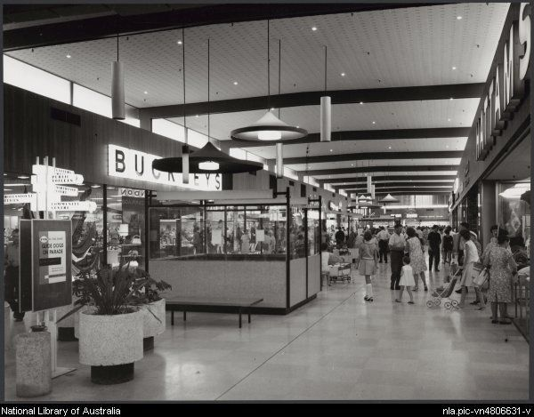 Sievers, Wolfgang, 1913-2007. Interior of Myer Northland shopping centre, Melbourne, Victoria, 1967, architects: Tomkins, Shaw and Evans, 2 [picture]