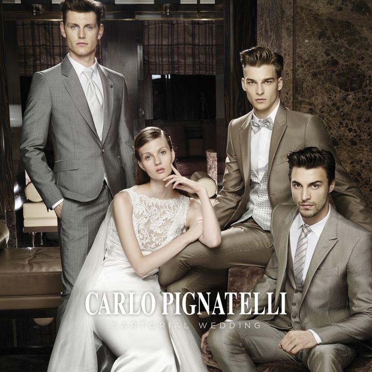 Carlo Pignatelli Sartorial Wedding and Fiorinda le spose di Carlo Pignatelli 2015 collections #carlopignatelli #sartorial #sposo #sposa #groom #bride #suit #wedding #matrimonio #weddingdress
