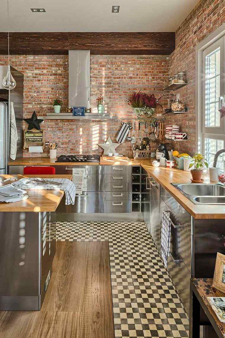 Les Meilleures Idées De La Catégorie Cuisine Avec Sol En - Carrelage cuisine terre cuite pour idees de deco de cuisine