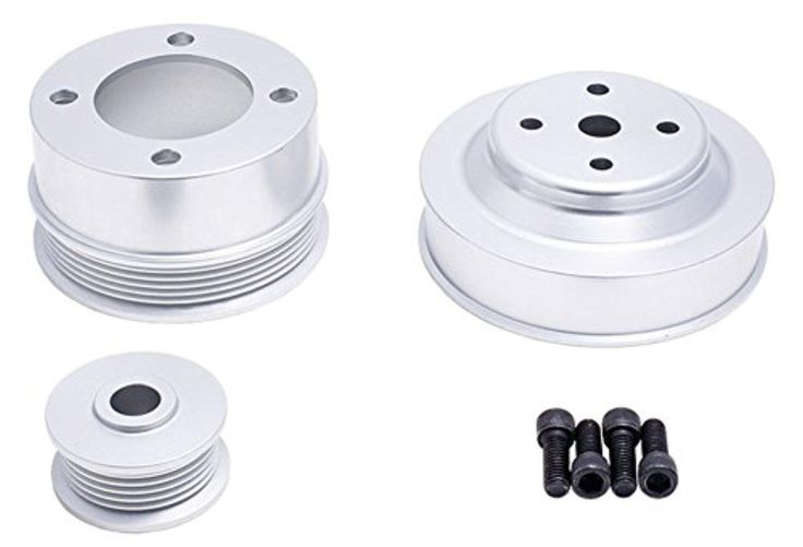 1979-1993 Ford Small Block 302 5.0L Mustang Polished Aluminum Serpentine Underdrive Kit - Brought to you by Avarsha.com