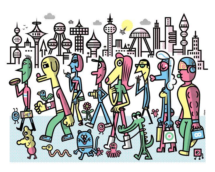 Dume - Tiphaine-illustration  #city #crowd