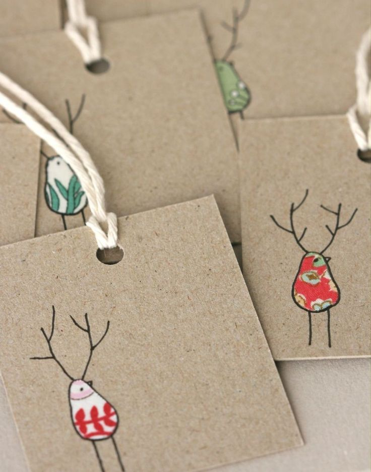 Sweet christmas tags. Use fabric scraps:)Christmas Cards, Thumb Prints, Diy Gift, Fabrics Scrap, Gift Wraps, Christmas Tags, Fabric Scraps, Christmas Gift Tags, Diy Christmas
