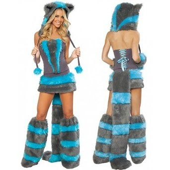 CHESHIRE CAT COSTUME ALICE FANCY DRESS OUTFIT ONE SIZE UK 8/10 FIVE PIECE