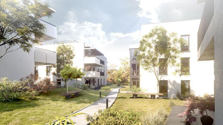 exterior 3D rendering, Kirschmühlstraße, Linz, AT