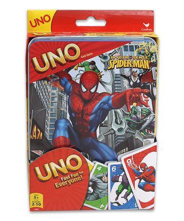 This Spider-Man Uno Card Game is perfect! #zulilyfinds