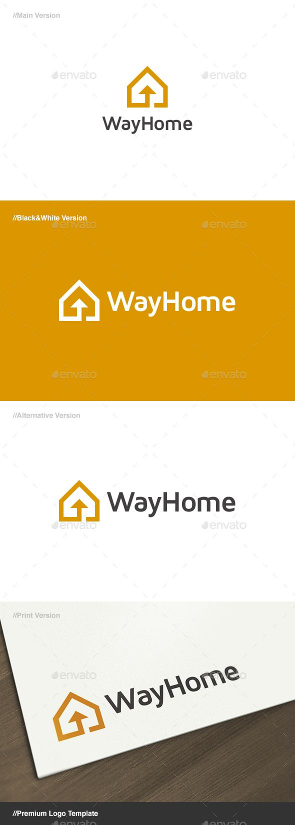Way Home Logo Template Vector EPS, AI Illustrator. Download here: http://graphicriver.net/item/way-home-logo/15831235?ref=ksioks
