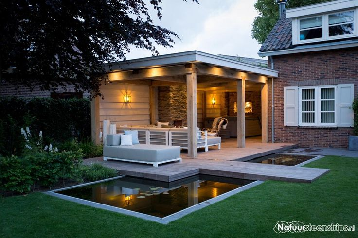 25 beste idee n over tuinoverkapping ontwerpen op pinterest decks achtertuin terrassen en - Opslag idee lounge ...