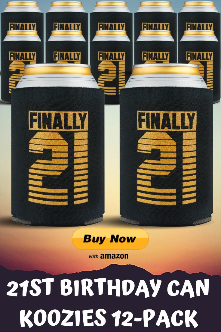 21st birthday can koozies 12pack great party favors and