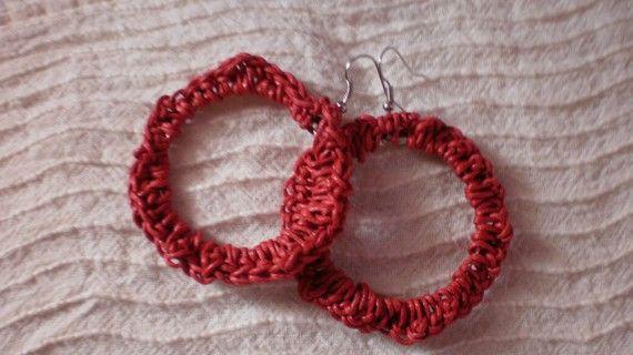 SALES 50% precent/Crochet earrings/PREVIOUS by KaterinakiJewelry