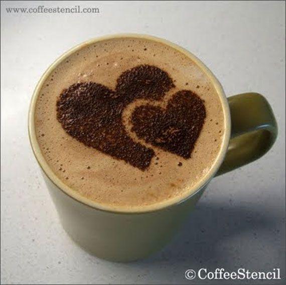 Pair of Hearts Latte Art