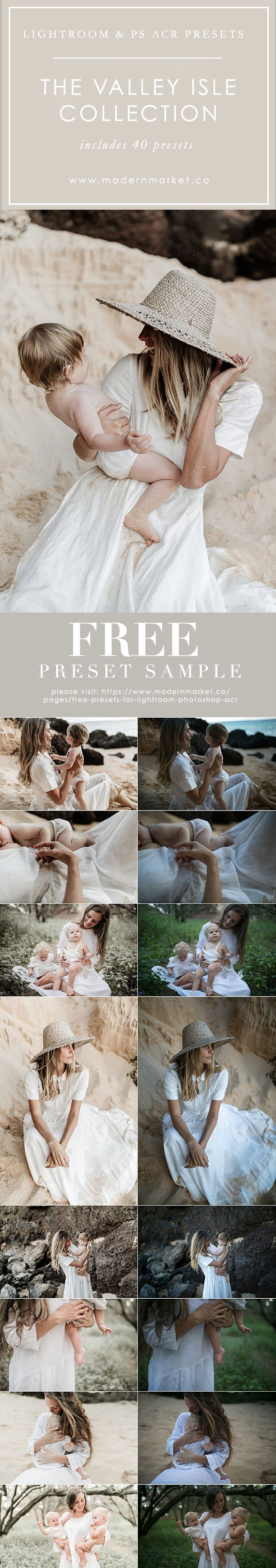 Must HAVE presets! Works in Lightroom & Photoshop. These presets know exactly how to highlight the beauty of each portrait by bringing out the dreamy lighting and organic tones. Inspired by the Valley Isle, Maui and my love for documenting my children. Muted organic tones, beautiful tan skin and that island vibe you see everywhere you go here!  DOWNLOAD FREE SAMPLE PRESETS BEFORE GETTING THE WHOLE COLLECTION!