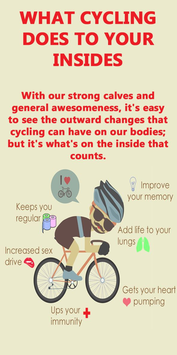 This is what all that cycling does to your insides, have you noticed these…
