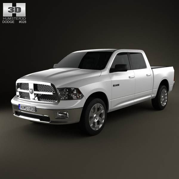 Dodge Ram 1500 Crew Cab Big Horn 5-foot 7-inch Box 2012 3d model from humster3d.com. Price: $75