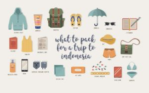 Ultimate Female Travel Packing List For Indonesia #packing #indonesia #travel