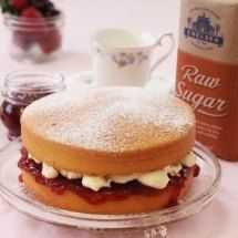 We use Raw Sugar which adds a lovely honey tone and caramel flavour to the sponge.