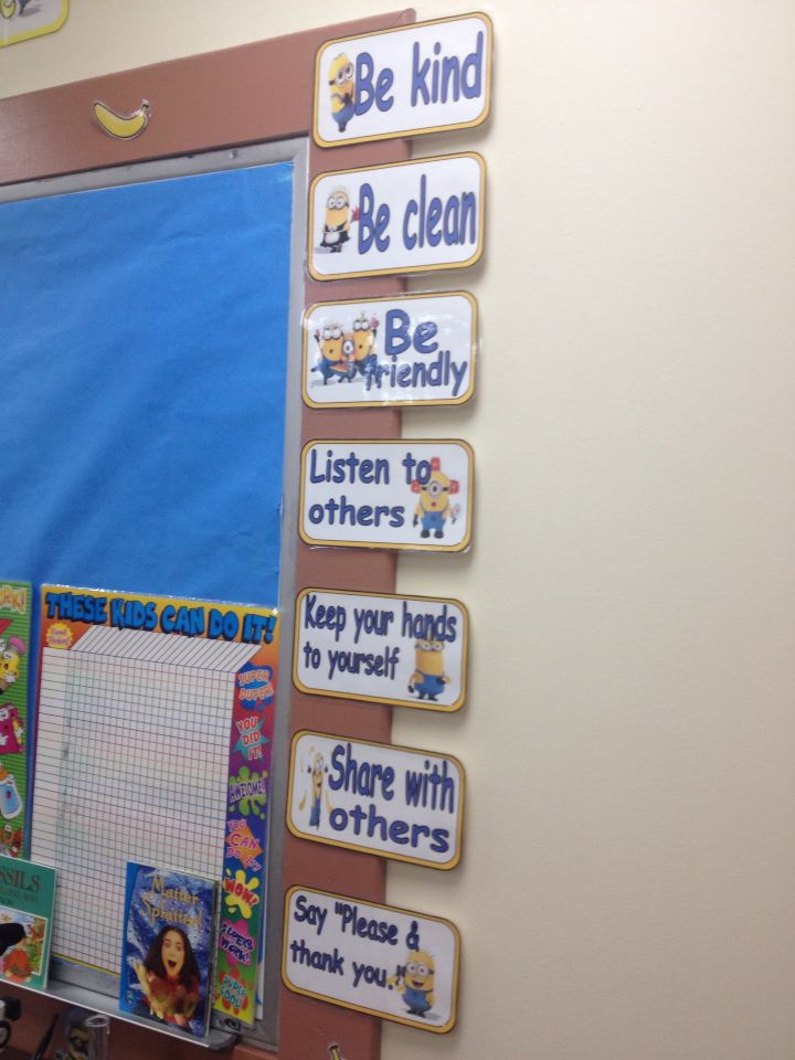 Minion classroom rules…