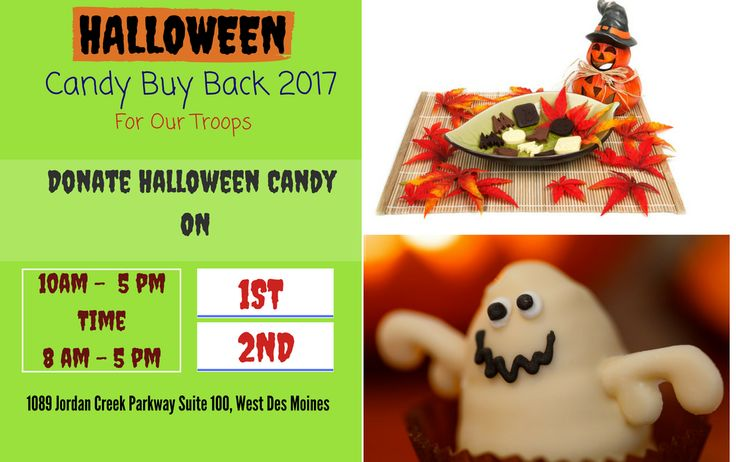 Join us on November 1st & 2nd as Plaza Dental Group is hosting our Halloween Candy Buy Back! Bring your Halloween candy and receive $1 for each pound of candy. All the collected candy will be sent to our troops. #Halloween2017