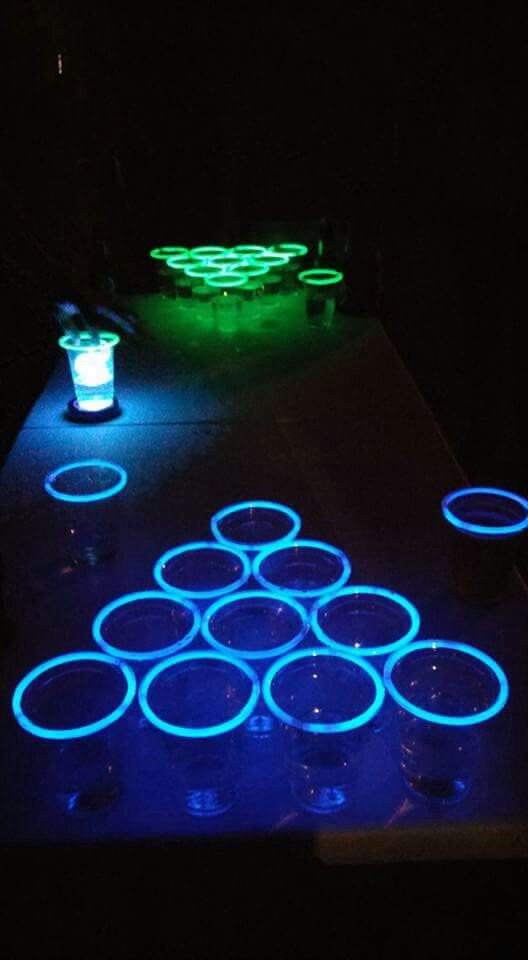 Done! Not only did we play beer pong, we played Glow in the dark beer pong!!! :-D Our Halloween party 2016