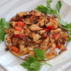 Chicken with vegetables. Recipes with photos.