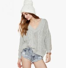 DY0047W Europe fashion ladies v-neck crochet hollow out sweater     Best Seller follow this link http://shopingayo.space