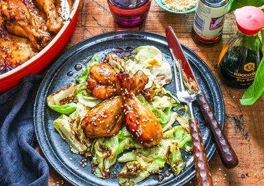Thailändsk kyckling med spetskål