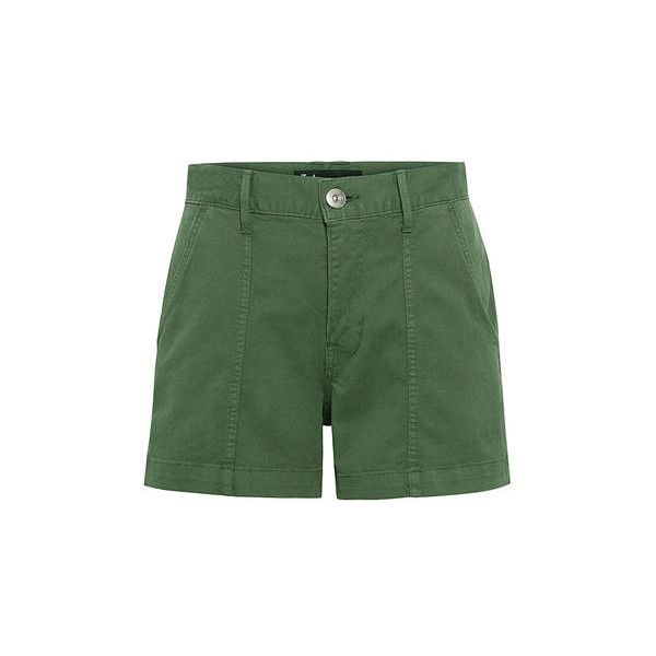 3x1 - Military Shorts ($88) ❤ liked on Polyvore featuring shorts, military style shorts, zipper shorts and military shorts