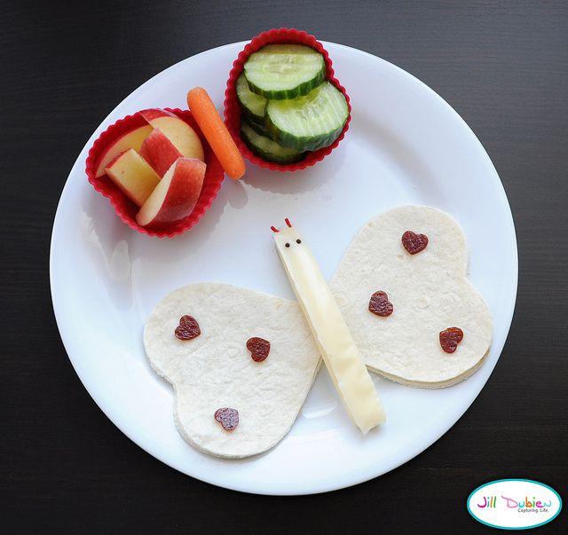 Cute & easy butterfly lunch