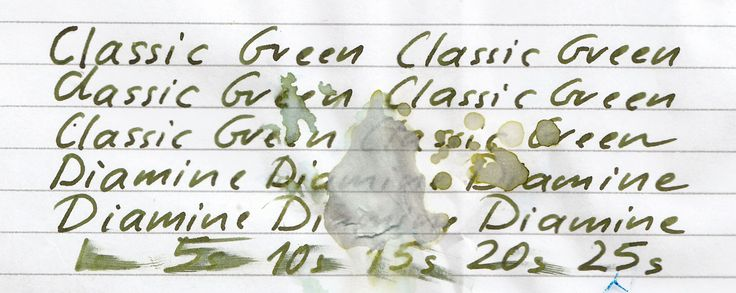 Page 1 of 2 - Classic Green - Diamine - posted in Ink Reviews: Manufacturers since 1864, Diamine Inks relocated to this purpose built state of the art factory in Liverpool in 1925, where they successfully carried on using the traditional methods and formulas for ink production. Over the years the company has changed hands and are now located close to the world famous Aintree Race Course    http://www.diaminein...uk/AboutUs.aspx  Classic Green is one of two new...