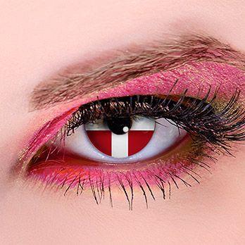 Flagge Schweiz - Kontaktlinsen für Fußball-Fans #WorldCup #football #contacts #fifa #switzerland