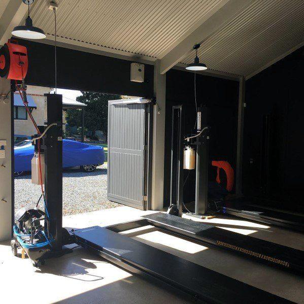 Top 70 Best Garage Wall Ideas Masculine Interior Designs Garage Design Barn Lighting Fibreglass Roof