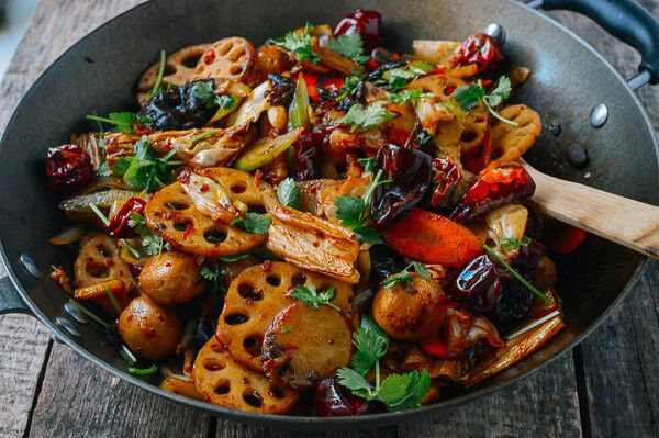 Ma La Xiang Guo (Spicy Numbing Stir-fry Pot), by thewoksoflife.com Gives pictures of Lotus root and Wood Ear Mushrooms
