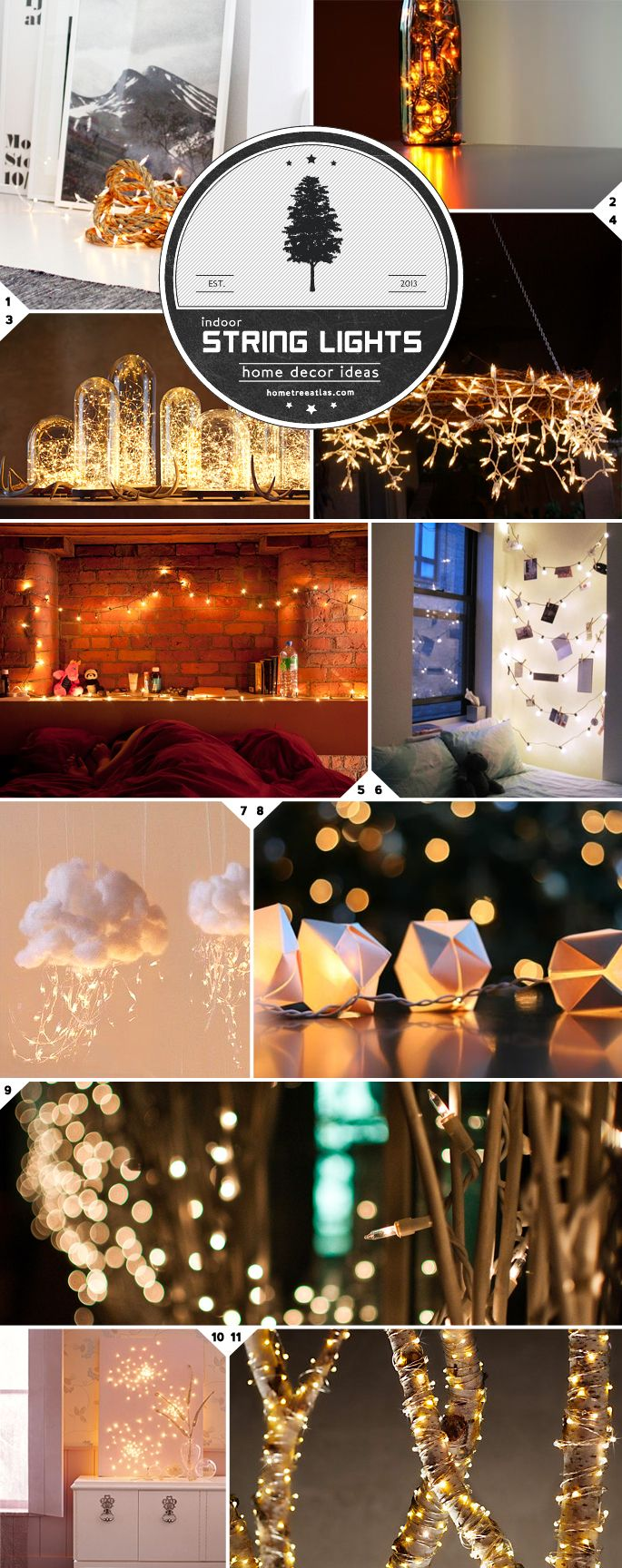 Home Decor Ideas: Beautiful Ways to Use String Lights Indoors