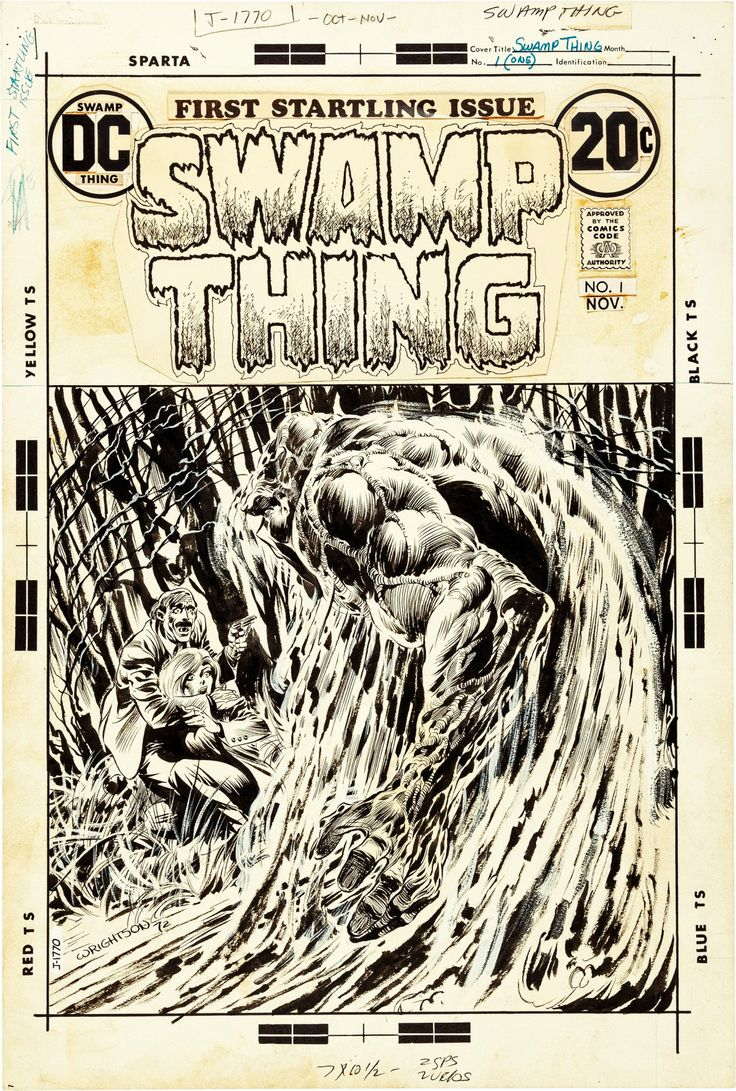 "travisellisor: "" the cover to Swamp Thing (1972) #1 by Bernie Wrightson """