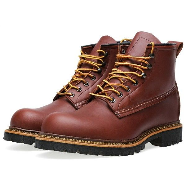 "Red Wing 2931 Heritage Work 6"" Ice Cutter Boot (615 BRL) ❤ liked on Polyvore featuring men's fashion, men's shoes, men's boots, men's work boots, shoes, men, thomas donnelly, red maple ottertail, mens lace up boots and mens work boots"