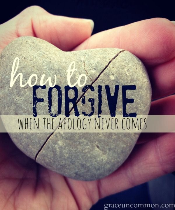 How to forgive when the apology never comes