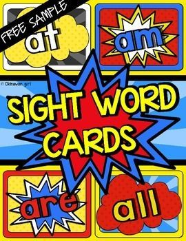Sight Words:  These superhero themed Dolch and Fry sample sight words can be placed in a high traffic area (such as your door or hand washing area) to have your students frequently review them throughout the day.  Contents- 1 x superhero themed poster- 7 x pages of sample Dolch and Fry words (arranged 4 per landscape page)Related ProductsThe FULL VERSION of the Dolch and Fry sight words can be purchased via these links:Superhero Dolch Sight Words.Superhero Fry Sight Words.