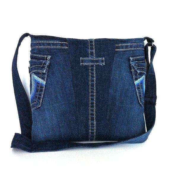 Jean de bolso azul de mensajero del dril de algodón por Sisoibags